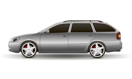 silvery car Stock Vector - 16113840