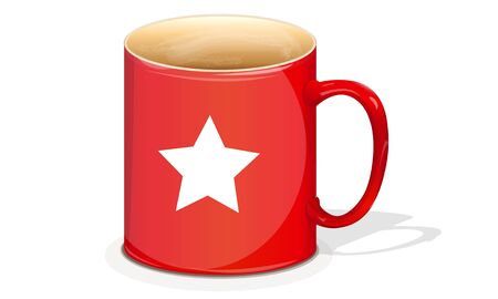 Red mug with a star