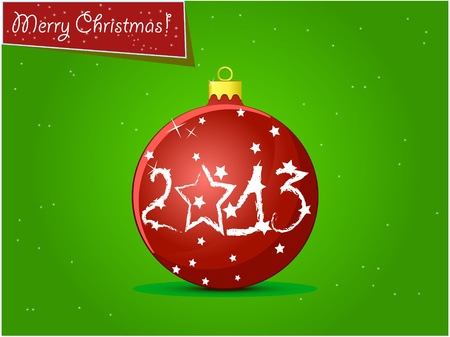 Red New Year s sapin sph�re