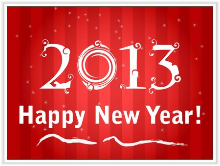 2013 Happy New Year de carton rouge Illustration