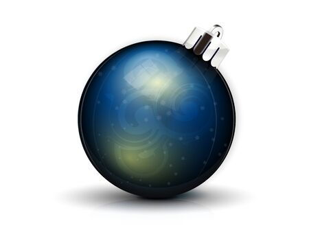 realistic dark blue fir-tree sphere