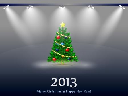 Arbre du Nouvel An 2013 � la lumi�re des projecteurs