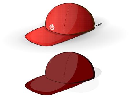 casquettes de baseball rouge sur un fond blanc
