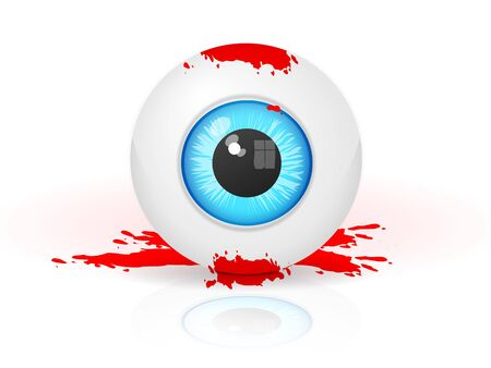 realistic bloody eye Stock Vector - 16855683