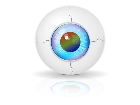 realistic robot's eye Stock Vector - 16855682