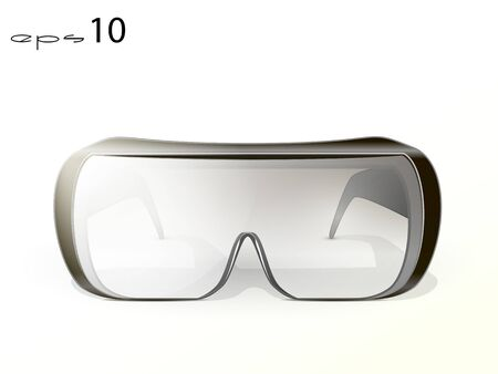 workwear: cool sports glasses with black frame