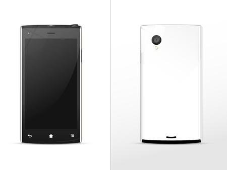 noir-et-blanc smartphone, avant et arri�re