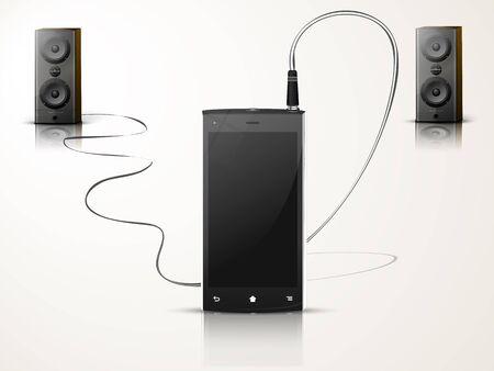 syst�me de musique des haut-parleurs mobiles et deux Illustration