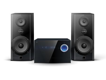 impianto stereo con due altoparlanti