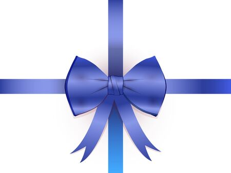 the blue ribbon with a bow Illustration