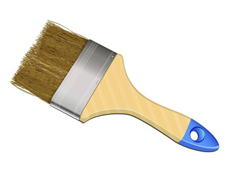 photorealistic a paint-brush on a white background