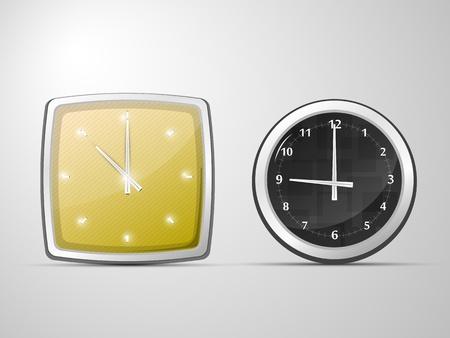 deux de l'horloge, rond et carr� Illustration