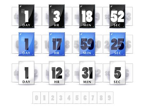 3 digital countdown timers  Stock Vector - 19422570