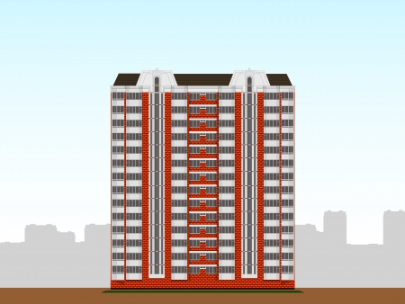 multi-storey apartment house  Stock Vector - 19422543