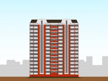 multi-storey apartment house Stock Vector - 19422543