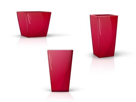 set realistic pots with the reflection from various angles Illustration