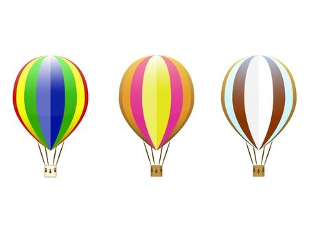un ensemble de ballons color�s sur un fond blanc
