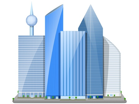 city consisting of skyscrapers in the daytime Stock Vector - 20849289