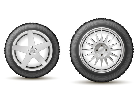 car wheels on the cast disks