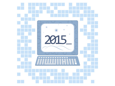the background image of the new year in computer style Illustration