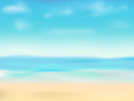 Bright and light summer beach background Illustration