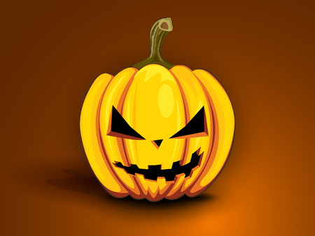 angry vegetable: paint angry pumpkin with cool face for Halloween
