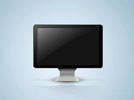 black computer monitor on the silver plate