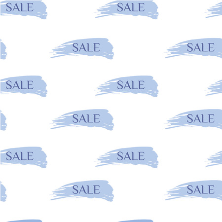 smears: vector seamless pattern with inscriptions sale on smears brush
