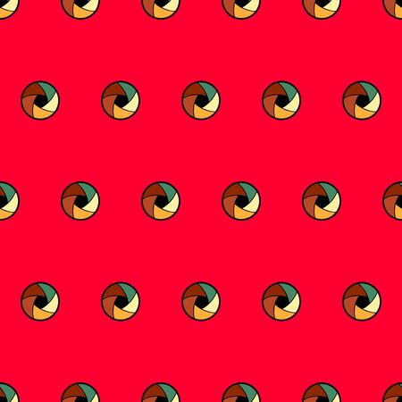 vector seamless pattern with abstract lens on a red background Illustration