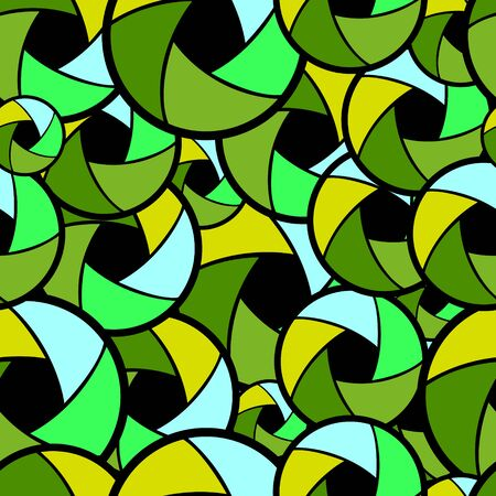 vector seamless background with abstract lens, superimposed on each other