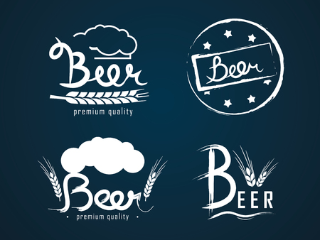 vector logos beer from a font designer Illustration