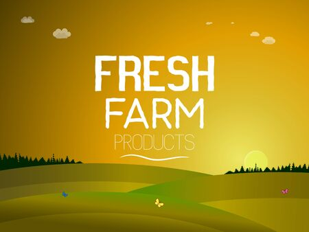 Fresh agricultural products. Illustration