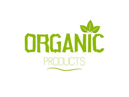 Fresh organic products logo. Illustration