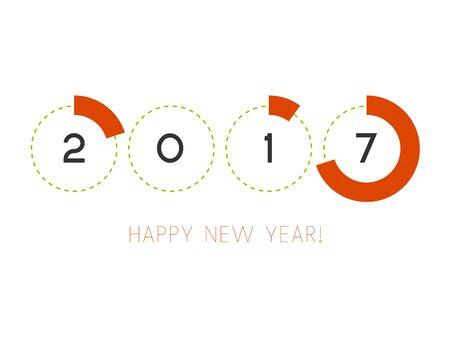 Vector illustration. Happy New Year 2017.