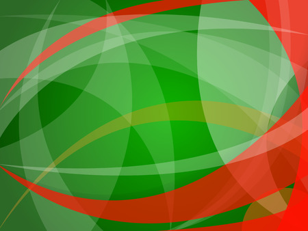 vector abstract red-green background of geometric shapes in christmas style