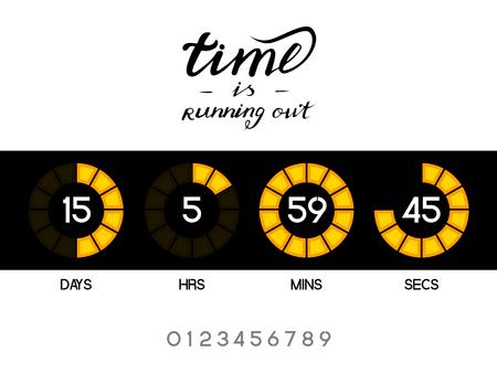 A digital countdown timer