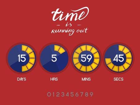Digital countdown timer Illustration