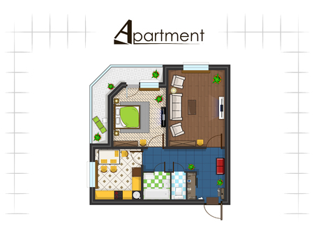 apartment project top view