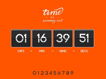 Orange countdown timer Illustration