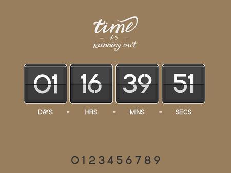 modern countdown timer Stock Photo