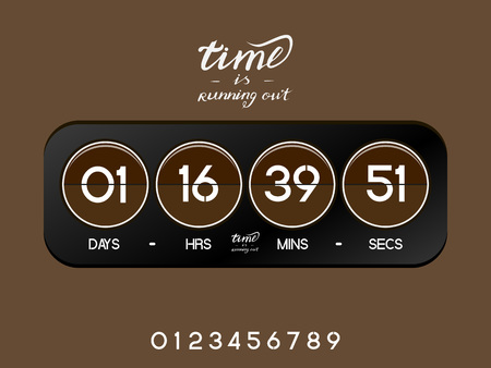 Brown and black countdown timer