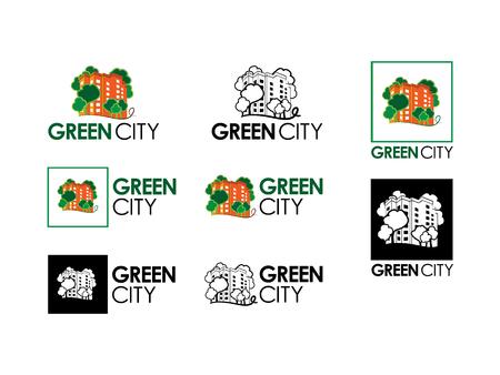 Green city logos