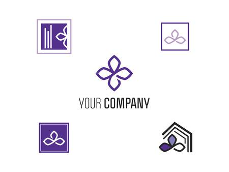 set of logos lilac