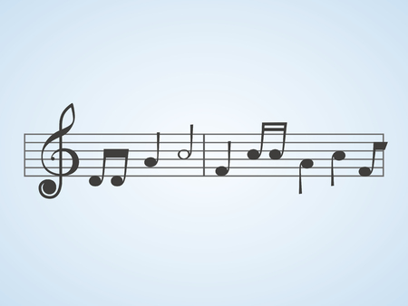 sheet music isolated on plain background
