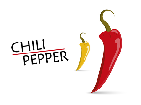 chili peppers vector illustration