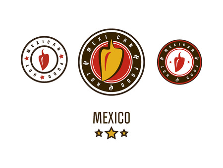 Mexican logos with pepper