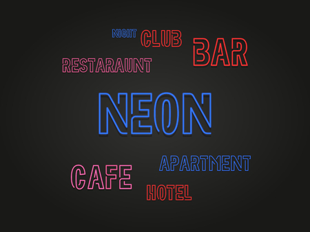 neon signs background illustration