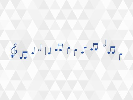 sheet music on the stave  on a white background with rhombus Illustration