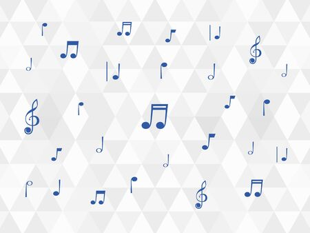 sheet music on white and grey background with rhombus Illustration