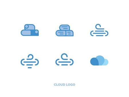 set of vector in the form of clouds  イラスト・ベクター素材